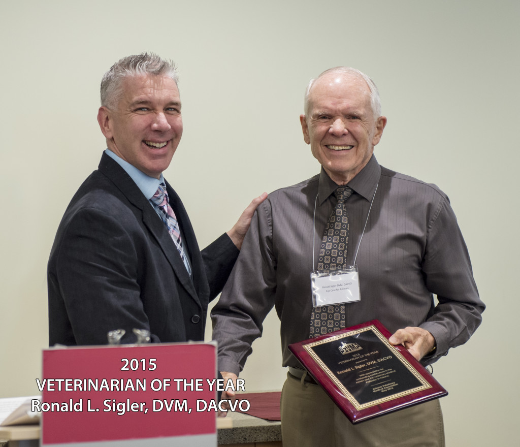 Dr Sigler Veterinarian of the Year